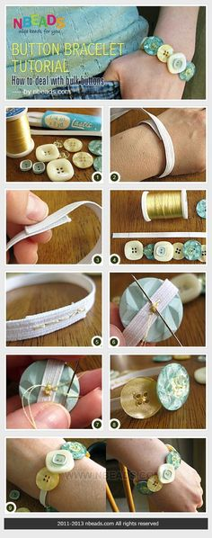 elastic button bracelet
