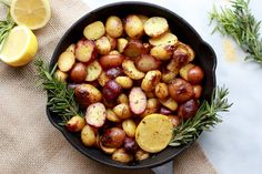 Greek(ish) Lemony Herbed Potatoes