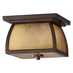 Home Solutions Wright House OL8513SBR 1-Light Outdoor Post Lantern - 9 in. - Sorrel Brown - OL8513SBR