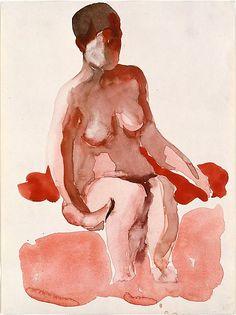 Seated Nude X  Georgia O'Keeffe (American, Sun Prairie, Wisconsin 1887–1986 Santa Fe, New Mexico)