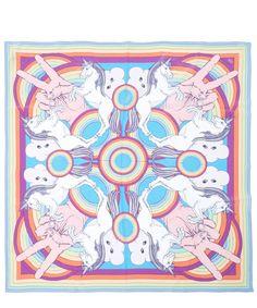 Silken Favours Rainbow Cosmic Groovy Printed Silk Scarf | Accessories | Liberty.co.uk