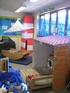 A super Lighthouse Keeper's Lunch classroom display photo contribution. Great ideas for your classroom! School Displays, Classroom Displays, Classroom Setup, Lighthouse Keepers Lunch, Role Play Areas, Seaside Theme, Seaside Holidays, Under The Sea Theme, Play Centre