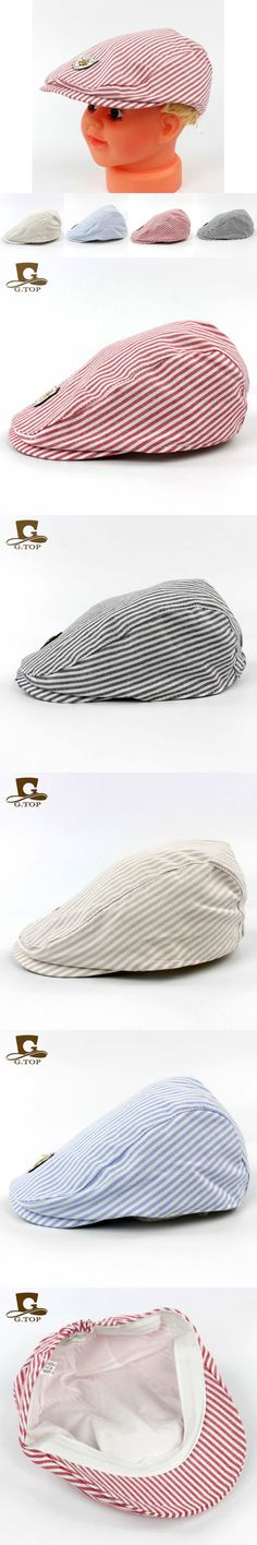 Hot sale 2016 New Fashion Stripe Plaid Design Baby Beret Hat Cool Gatsby Newsboy Golf Boys Flat Cap outdoor cotton Sun Cap G-259 $6.66