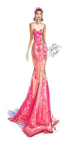 Naeem Kahn. Sketches from NYFW, SS16  Fashion illustrations by Holly Nichols  #Fashion #Illustrations #Moda #Ilustraciones #HollyNichols #sketch