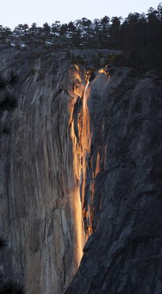 To celebrate my 2 years on Reddit, here's some photos of a natural firefall I shot a few weeks ago. [album inside] - Imgur