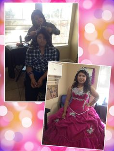 374f0c86836 Quinceanera hair and airbrush make-up  quincedresses  airbrush  quinceanera   airbrush