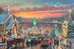Thomas Kinkade - The Lights of Christmastown - McAdenville, North Carolina (2011)