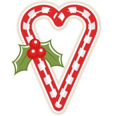 Candy Cane Heart scrapbook clip art christmas cut outs for cricut cute svg cut files free svgs cute svg cuts