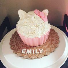 Emily's hello kitty smash cake!