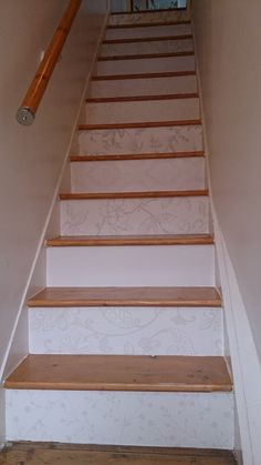 Wallpapered Stairs :o) [use free wallpaper samples]