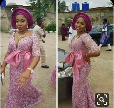 Enchanting aso ebi styles that will inspire you - Opera News Official African Party Dresses, African Wedding Attire, African Lace Dresses, Latest African Fashion Dresses, African Attire, African Blouses, African Wear, Weekender, Nigerian Dress Styles