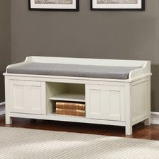 Beachcrest Home Gainsborough Wood Storage Bench Indoor Storage Bench, White Storage Bench, Entryway Bench Storage, Entry Bench, Upholstered Storage Bench, Storage Benches, Hall Bench, Bench Seat, Indoor Benches