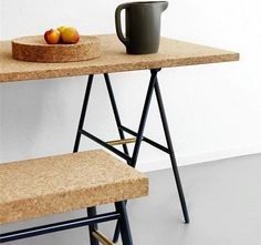 cork decor on pinterest corks desk set and mesas. Black Bedroom Furniture Sets. Home Design Ideas
