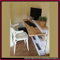 Pallet Furniture Projects bureau-palette - Prenons le temps - Pallet furniture pieces to embellish your home or garden.