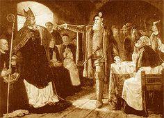 Gustav Vasa konfronterar biskop Brask som motsatt sig reformationen 1527. Målning av Ernst Josephsson, ca 1875.