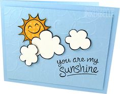 Lawn Fawn - Sunny Skies _ Card for OWH I would like to try to design this with Stampin up products