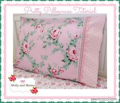 Learn how to sew a pillowcase that includes a variety of beautiful trims! Brought to you by mollyandmama.wordpress.com and sewmccool.com!