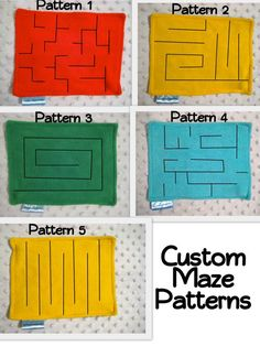Marble Maze patterns for quiet book pages