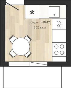 Фотография: в стиле , Кухня и столовая, Перепланировка, Анастасия Киселева, Максим Джураев, II-57, II-18-12 – фото на InMyRoom.ru