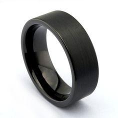 Black Ash Mens Wedding Rings Tungstenmens