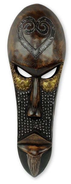 Awudu Saaed African Male Mask Wall Decor