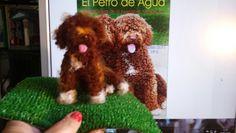 Needle felting - Perro de aguas hecho por trastete Miryam Sel Arias