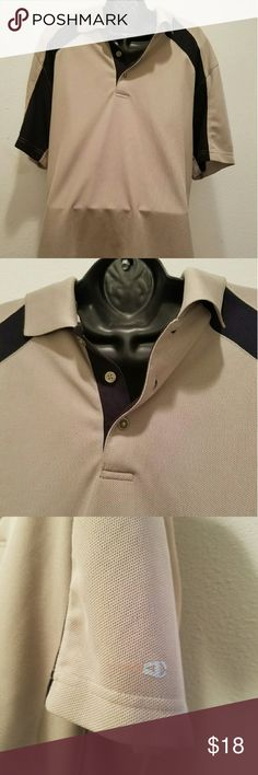 Grand slam Golf Shirt Grand slam golf shirt, short sleeve medium beige with black in the sleeves Grand slam Shirts Polos