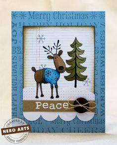 Hero Arts Cardmaking Idea: Reindeer With Sweater