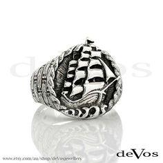 Ship Ring by deVosjewellery on Etsy