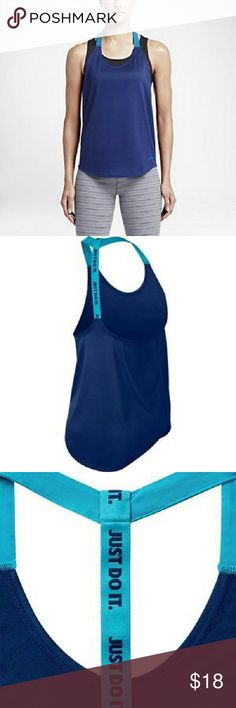 Nwt women's Dri-Fit training tank This is a new woman Nike Training tank and blue color there is also available in purple listed separately Nike Tops Tank Tops