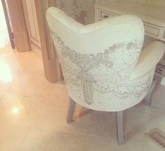 Swarovski bejeweled makeup chair...Bedazzled beauty!
