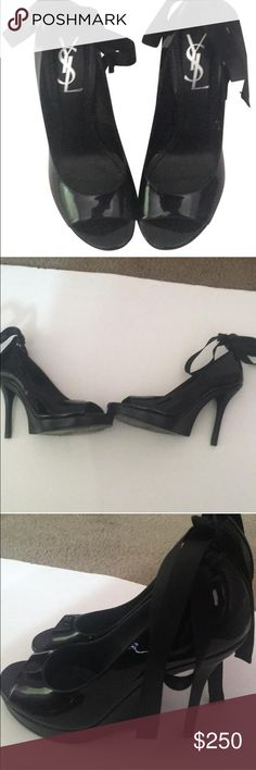 YSL heels! Gorgeous pair of YSL shoes! Some scuffs. Price is firm!❤️ Yves Saint Laurent Shoes Heels