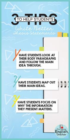 3 ways to help middle school and high school English students write better thesis statements - For middle school and high school teachers, it is important to teach thesis statements early, so students don't struggle with them too much down the line. Writing Lesson Plans, Essay Writing Help, Essay Writer, Writing Strategies, Writing Lessons, Teaching Writing, Writing Resources, Teaching Strategies, Writing Ideas