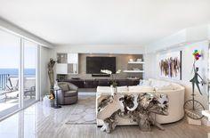 Tengerparti nappali - nappali ötletek, modern stílusban