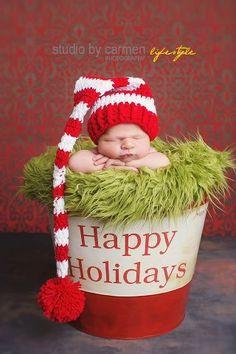 Newborn Santa Hat Newborn Photo Prop Newborn by VioletsPlayground