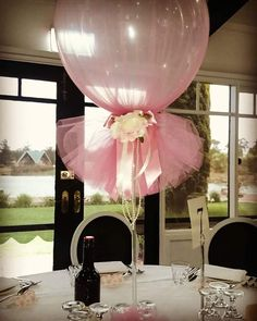 ideas con globos decorados con tul