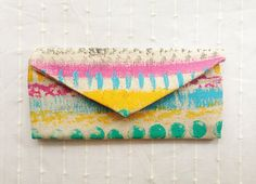 Tribal Muster Brieftasche, Hand painted Geldbörse, Damen Geldbörse Canvas Trifold Geldbörse, aztekische Muster auf Etsy, 25,17€