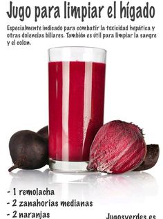 Jugo para limpiar el higado - Juice to cleanse the liver A top doctor reveals the foods that are hindering your ability to remember things and think clearly. Recipe for Beet Kvass Juicing Tips And Techniques Anyone Can Use - Juicing and Smoothies From ge Healthy Juices, Healthy Smoothies, Healthy Drinks, Healthy Tips, Smoothie Recipes, Healthy Recipes, Detox Smoothies, Healthy Food, Beet Kvass