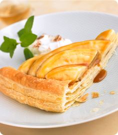 Bananas Foster over Puff Pastry recipe