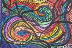 Biology, cell structure, waves of movement. This abstract watercolor flowed nicely. I liked doing it. It's been sold.