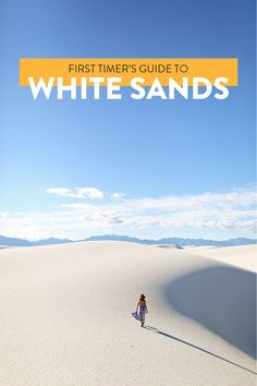 First Timer's Guide to White Sands National Monument New Mexico // Local Adventurer Alaska Travel, Travel Usa, Alaska Cruise, Travel Tips, Travel Guides, Cool Places To Visit, Places To Travel, Where The Sun Sets, White Sands New Mexico