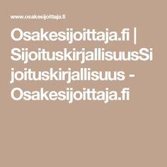 Osakesijoittaja.fi | SijoituskirjallisuusSijoituskirjallisuus - Osakesijoittaja.fi