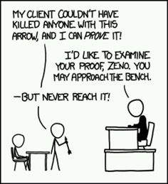 Zeno - xkcd. You're a nerd if you get it. Lol.