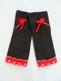 Stulpen+Armstulpen+Spitze+schwarz+rot+weiß+von+Zellmann+Fashion+auf+DaWanda.com