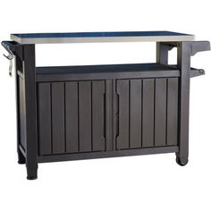 Outdoor Prep Station Patio Portable Bbq Cabinet Storage Deck Bar Pool Grill Suncast Garden Getaway Pinterest Patios And