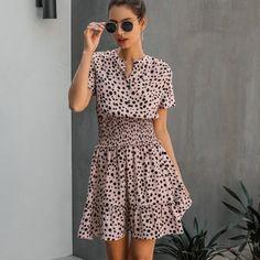 Leopard Print High Street Casual Short Sleeve Shirt Dress #ShirtDress #Casualwear #casualstyle #LeopardPrint #HighStreet #StreetWear #ValentinesDay2021 #likeforlike #followme