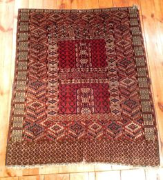 19th Century Antique Tekke Ensi Oriental Rug Turkman