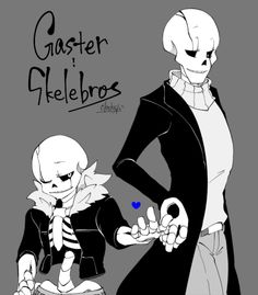 "by tickclockclocks ""Gaster!skelebros by @borurou. I want to see fusion process