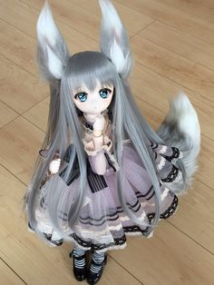 50 Ideas Doll Bjd Girls Dresses For 2019 Anime Chibi, Kawaii Anime, Kawaii Doll, Custom Monster High Dolls, Custom Dolls, Anime Dolls, Ooak Dolls, Pretty Dolls, Beautiful Dolls