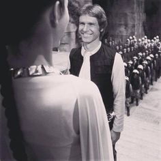 The way young Harrison Ford looks at Carrie Fisher ...... I'm melting! <3 <3 <3